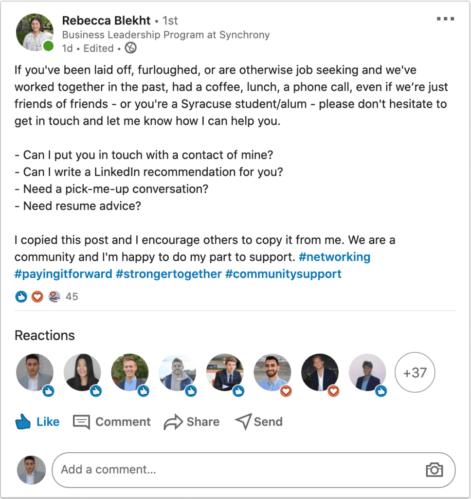 How to increase engagement on linkedin by spreading positivity